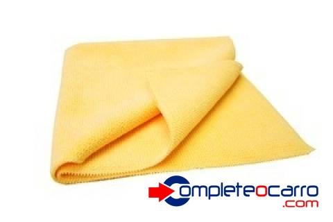 Flanela de Microfibra Amarela - 30x30 - Super Macia