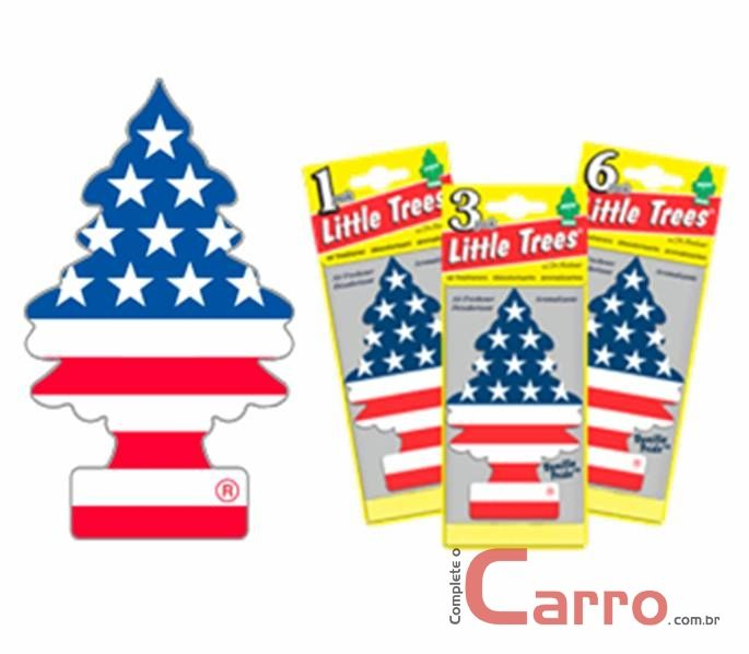 Aromatizante Little Trees - Baunilha Bandeira USA - Car Fres