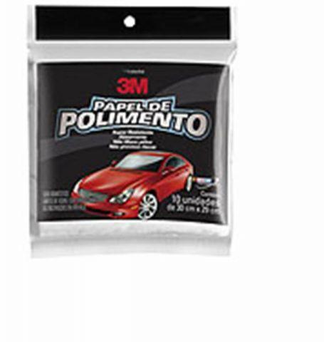 Papel de Polimento 3M - 10 Folhas