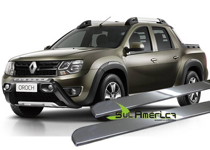FRISO LATERAL RENAULT DUSTER OROCH 2015 2016 4P CROMADO (4PÇ