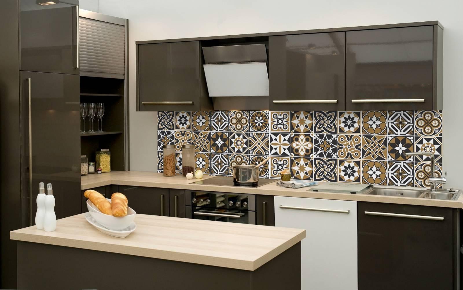 Redecorei > Adesivo de Azulejo > Cozinha / Banheiro #9F6E2C 1600x1003 Banheiro Com Adesivo De Azulejo