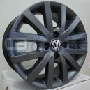 Jogo de rodas VW Gol GV aro 14x6 4x100 offset 38 Grafite Fosco R3