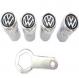 Kit Capa para Bicos Anti Furto Cromados + Chave de Aperto - Volkswagen
