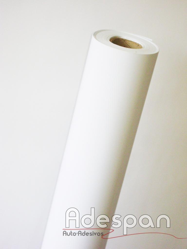 Vinil Branco Fosco Premium 0,08mm c/1,22m/lg
