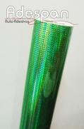 Vinil Holográfico Triângulo Verde c/1,00m/lg | ADESPAN