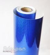 Vinil Holográfico Giro Rápido Azul c/1,00m/lg   ADESPAN