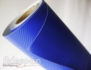 Vinil Fibra de Carbono Azul Royal Texturizado c/1,38m/lg | ADESPAN