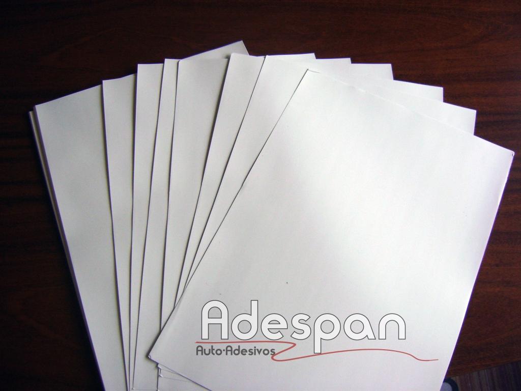 Vinil Laser Branco Brilhante 0,33x0,48m c/100 folhas super A3