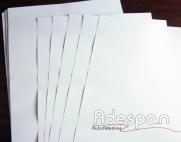 Vinil Laser Branco Fosco 0,33x0,48m c/100 folhas  SUPER A3 | ADESPAN
