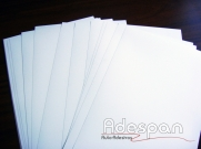Pvc Laser Branco 300MIC 0,33x0,48m c/100 folhas | ADESPAN