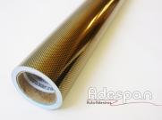 Poliester Fibra de Carbono Ouro (Fibraline) c/1,00m/lg | ADESPAN