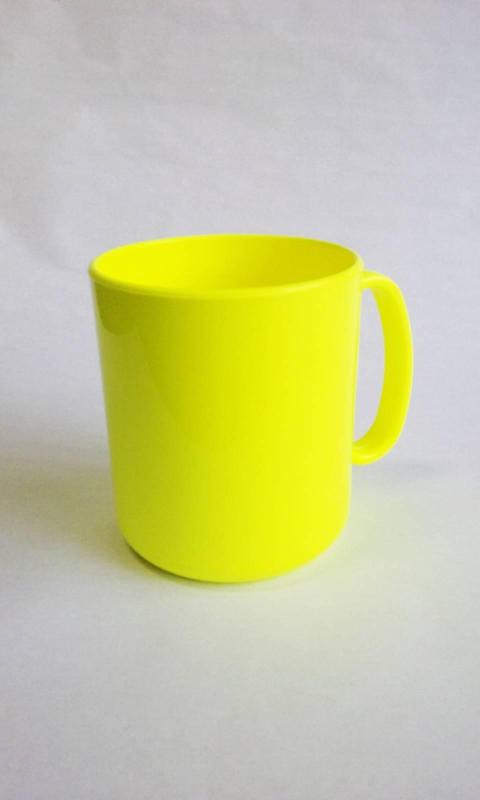 Caneca Plástica de Café para Sublimação Fluor- 400 ml