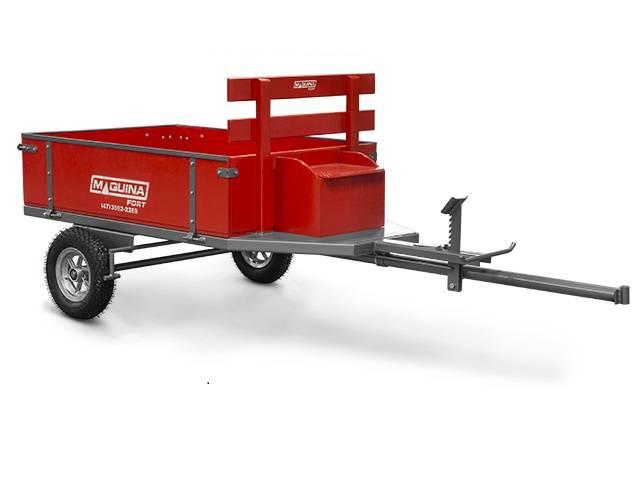 Carreta Maquinafort Para Motocultivador - Capacidade 250kg