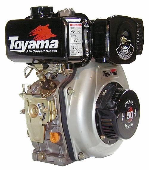 Motor TOYAMA 4.7HP diesel eixo 3/4' TD50F