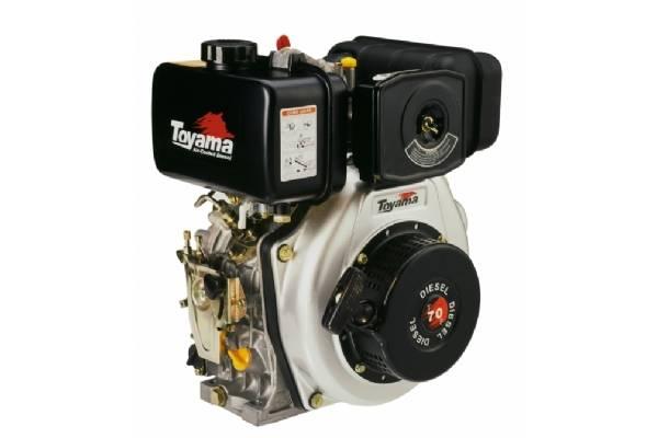 Motor TOYAMA 6,7HP diesel eixo 1' TD70F