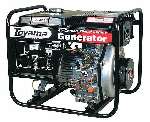 Gerador diesel TOYAMA TD4000CXE 3,8 Kva
