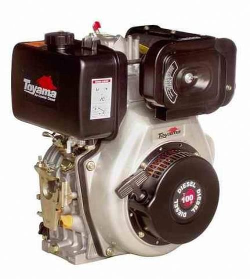 Motor Toyama diesel TD100FE 10HP c/ partida elétrica eixo 1'