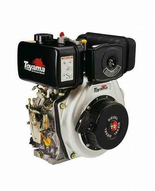 Motor TOYAMA 6,7HP diesel c/ partida elétrica eixo 1' TD70FE