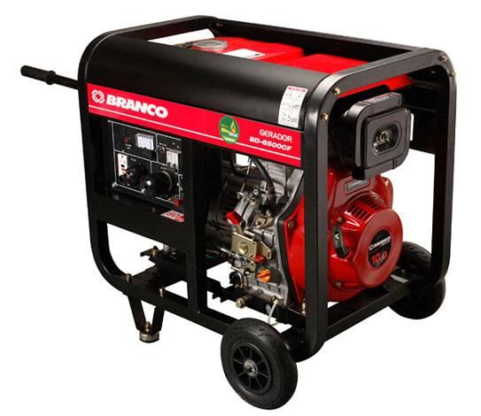 Gerador Branco Diesel BD 6500 E 5,0 KVA Partida Elétrica