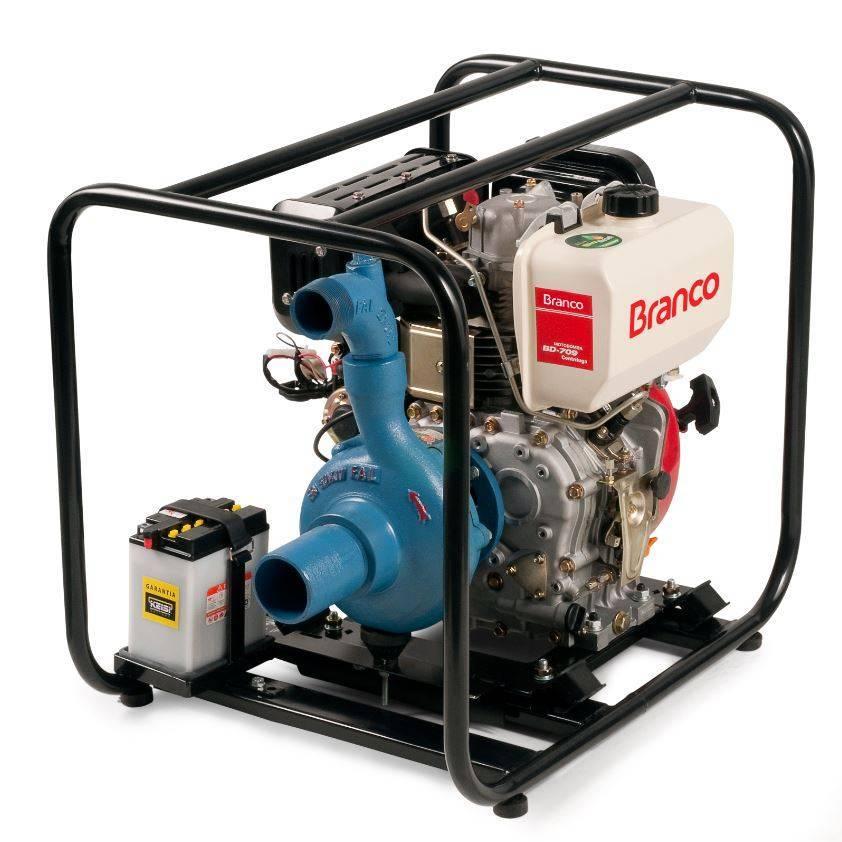 MotobombaBranco Diesel BD709 3'x 2' P. Manual Centrífuga