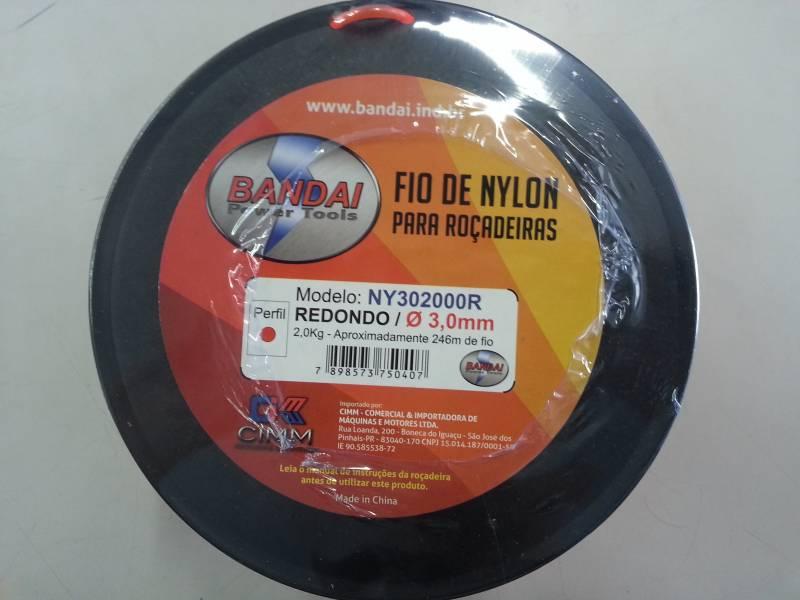 Fio de nylon perfil REDONDO 3.0 mm 246 metros BANDAI
