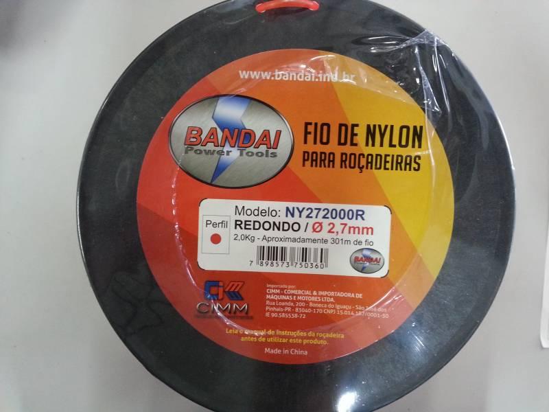 Fio de nylon perfil REDONDO 2,7 mm 301 metros BANDAI