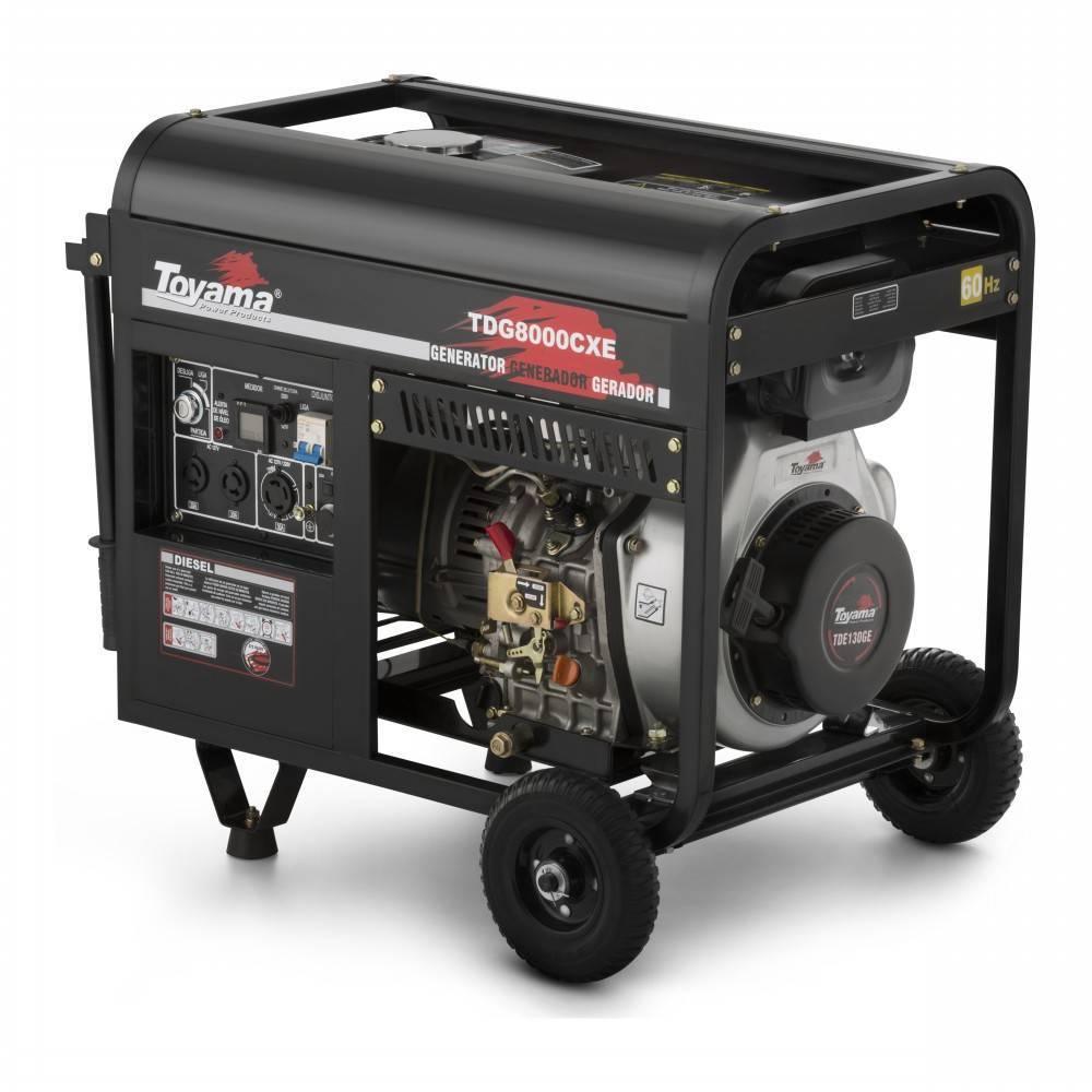 Gerador Diesel Toyama TDG8000CXE3 TRIF. 8,1 kVA max 380V AVR