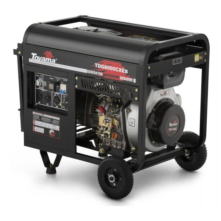 Gerador Diesel Toyama TDG8000CXEB Monofásico 6,5KW  127/220V
