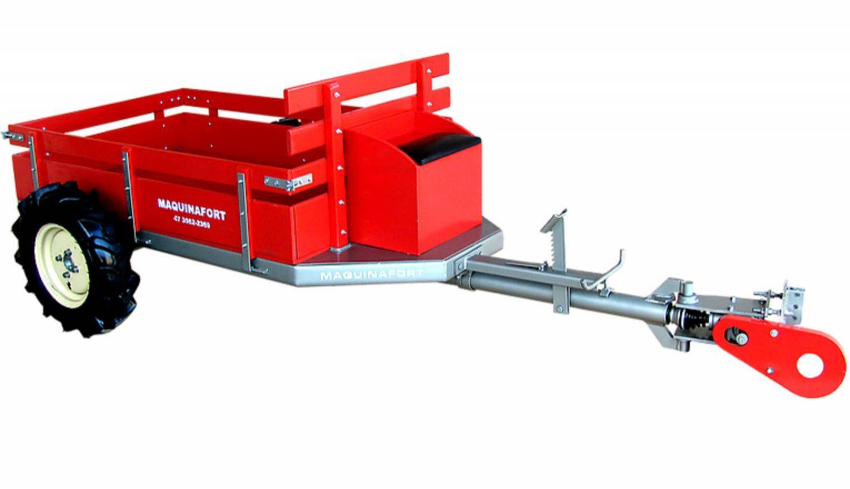 Carreta Fixa Simples C/ Tração 600T Sem direção para 600kg