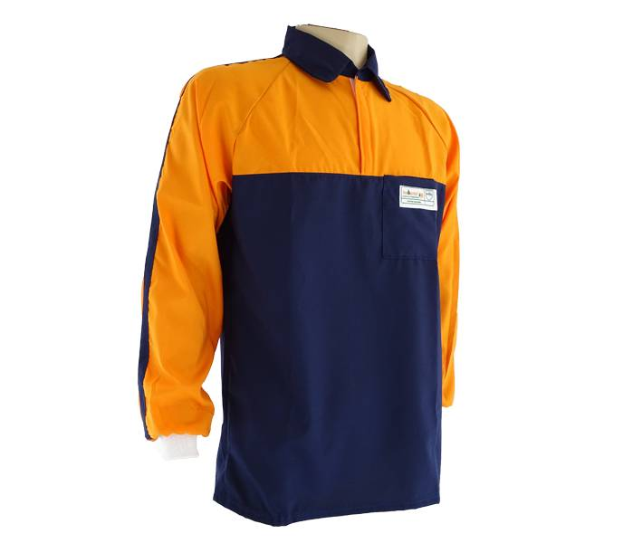 Camisa Tecmater Florestal Azul e Laranja Varios tamanhos