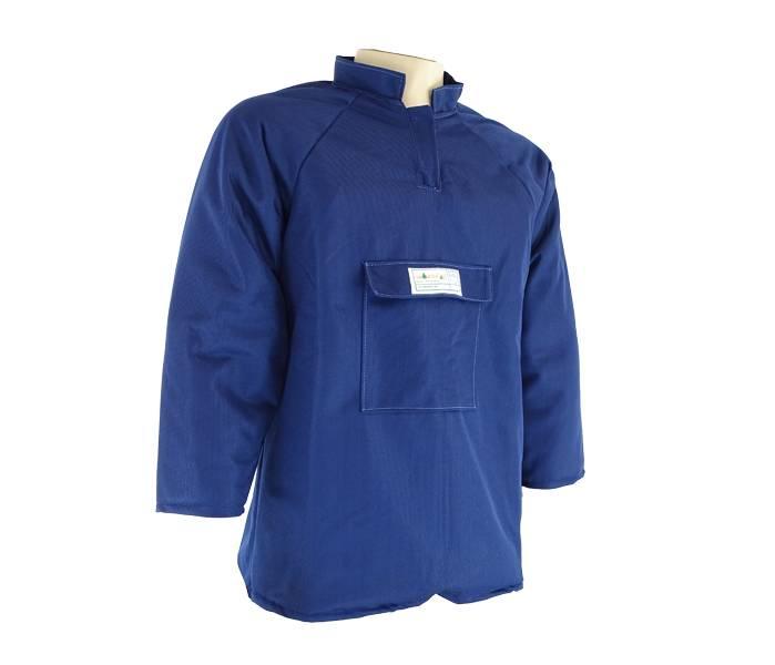 Camisa Tecmater Fibra8CAM cor Azul nos Tamanhos P/M/G/GG/XP