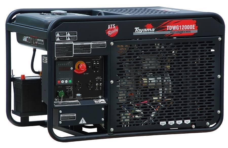 Gerador ToyamaTDWG12000E-N Diesel 10KVA Refrigerado a água
