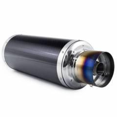 Abafador Esportivo Luzian Inox - Fibra de Carbono | Entrada 2,5