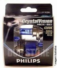 Kit Lâmpadas Philips Crystal Vision 4300k - H1 (com pingos)