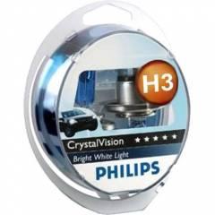 Kit Lâmpadas Philips Crystal Vision 4300k - H3 (com pingos)
