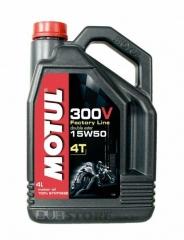 Oleo para motor Motul 300V 4T Factory Line 15W50 | 4 litros