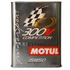 Oleo para motor Motul 300v COMPETITION SA 15W50 | 2 litros