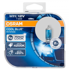 Kit Lâmpadas Osram Cool Blue Intense - H11