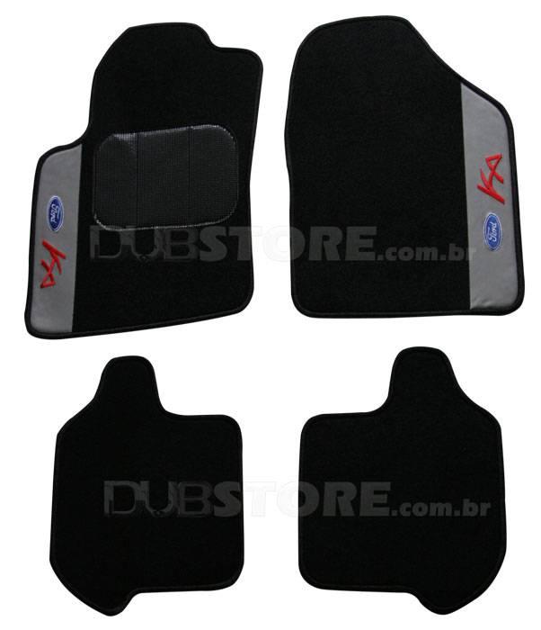 Jogo de Tapetes Automotivo em Carpet para Ford Ka Antigo | DUB Store