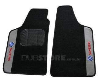 Jogo de Tapetes Automotivo em Carpet para Volkswagen Saveiro (5° geração) | DUB Store