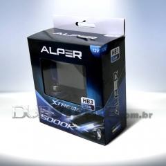 Kit Lâmpadas Alper Crystal Blue Xtreme 5000k - HB3