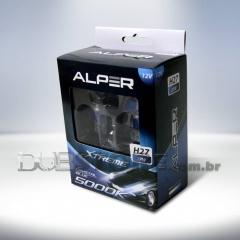 Kit Lâmpadas Alper Crystal Blue Xtreme 5000k - H27