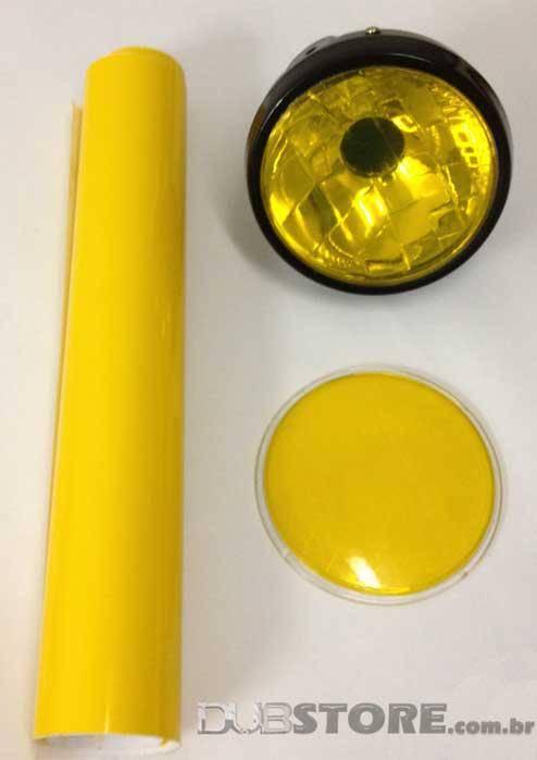 Película para farol ou lanterna na cor Amarelo 30x50cm | DUB Store