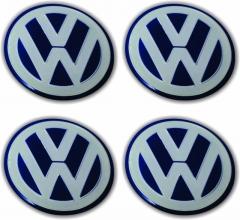 Emblemas/Center Cap | VW Azul - Volkswagen 51mm