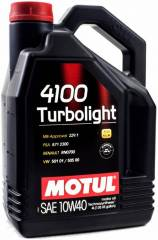 Óleo Motul 4100 TURBOLIGHT 10W40 | 4 litros