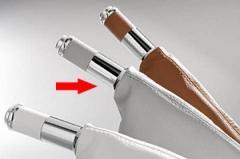 Manopla de Freio de Mão Isotta 479 IG - Gelo c/ cromado, acompanha coifa Gelo.