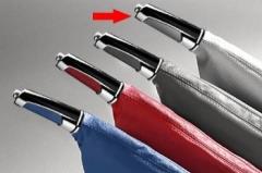 Manopla de Freio de Mão Isotta 481 FC - Carbono Cinza c/ cromado, acompanha coifa Carbono Cinza.