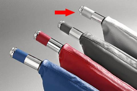 Manopla de Freio de Mão Isotta 479 FC - Carbono Cinza c/ cromado, acompanha coifa Carbono Cinza. | DUB Store