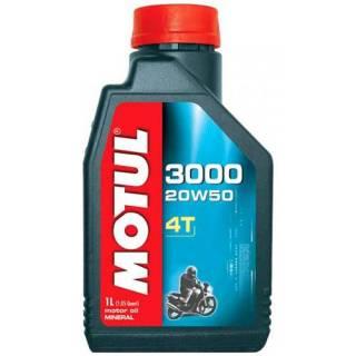 Óleo Motul 3000 4T para motor 4T 20W50 Mineral | 1 Litro. | DUB Store