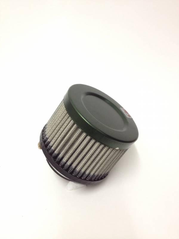 Filtro de ar cilíndrico fluxo simples, pequeno |Verde e Preto | boca de 2